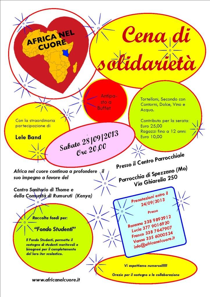 Volantino cena 28 settembre 2013